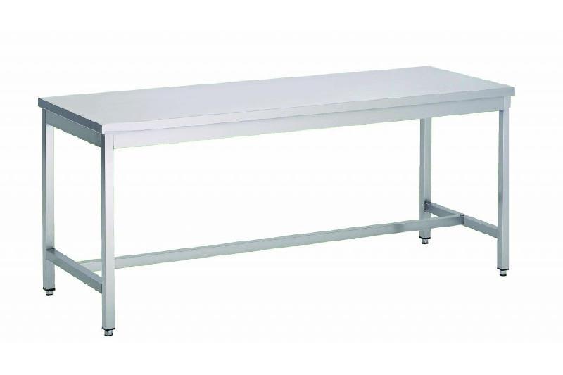 Table de travail centrale en inox 800 x 1500 mm comparer for Table de travail en inox