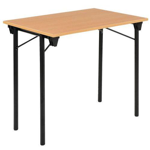 TABLE PLIANTE ECO - HÊTRE ET NOIR - 80X60 CM