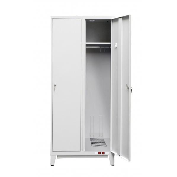 Vestiaire séchant chauffant rapide largeur de case = 400 mm, sans séparation verticale