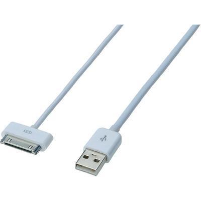 CÂBLE DE DONNÉES/CÂBLE DE CHARGE IPAD/IPHONE/IPOD EDNET - [1X USB 2.0 MÂLE TYPE A - 1X DOCK APPLE MÂLE 30 P