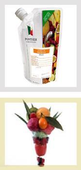 Purées de fruits fraîches