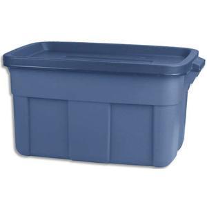 rubbermaid caisse de rangement avec couvercle capacite 53 litres dimensions l60 x h30 x p40 cm. Black Bedroom Furniture Sets. Home Design Ideas