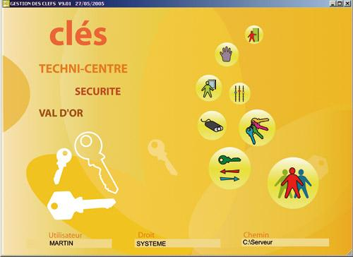 Logiciel gestion accès visiteurs/clefs