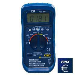 Mesureur de son pce-222 à format de poche pour de nombreuses applications