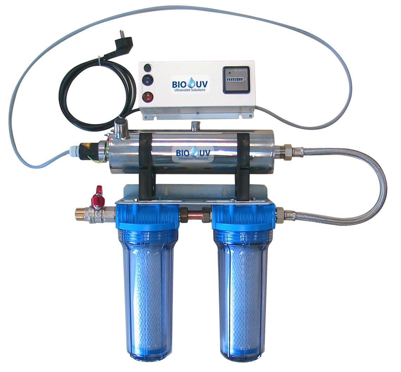 Stérilisateur uv home avec double filtration