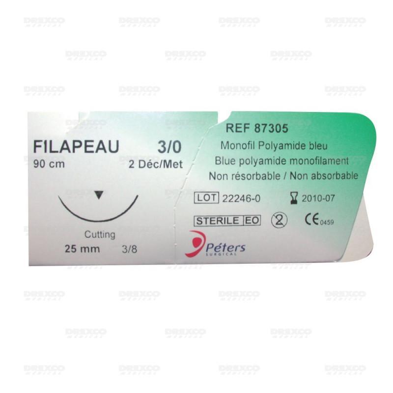 Ligatures - sutures monofil polyamide non résorbable peters (boite de 12) réf : 61003