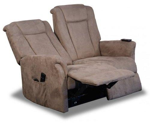 Celeste canape 2 places relax electrique microfibre for Canape 2 places relax microfibre