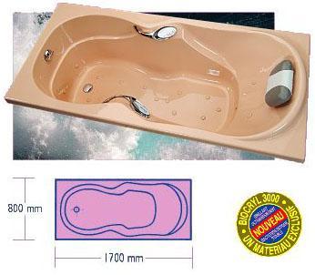 baignoire baln o kinedo ergonomique 170x80 bien tre comparer les prix de baignoire baln o. Black Bedroom Furniture Sets. Home Design Ideas