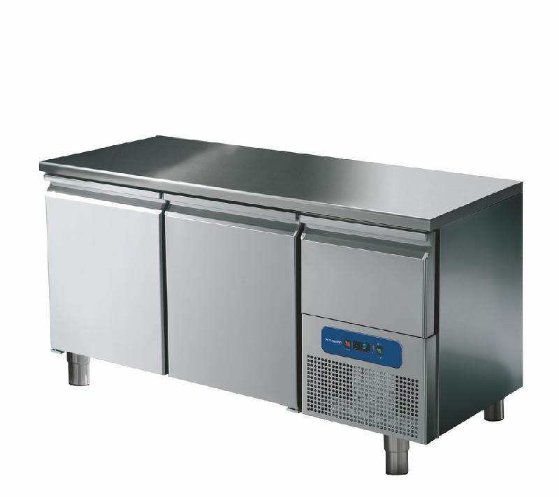 Table réfrigérée 2 portes gn 1/1 avec tiroir réfrigérée, -2°/+8°c - bnc0002/fn