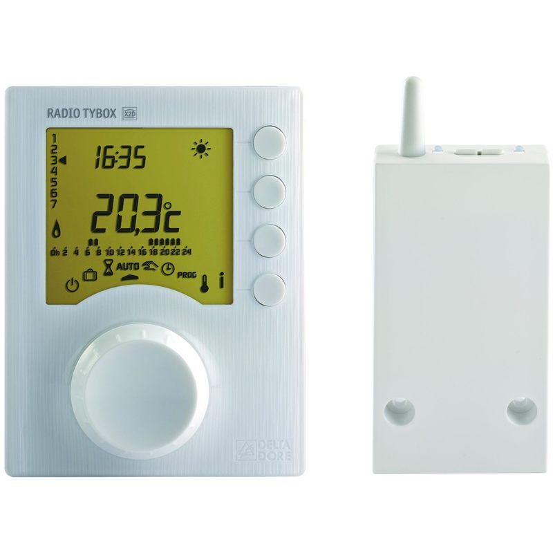PACK TYBOX 137 CONNECTE - THERMOSTAT PROGRAMMABLE POUR CHAUD - DELTA DORE