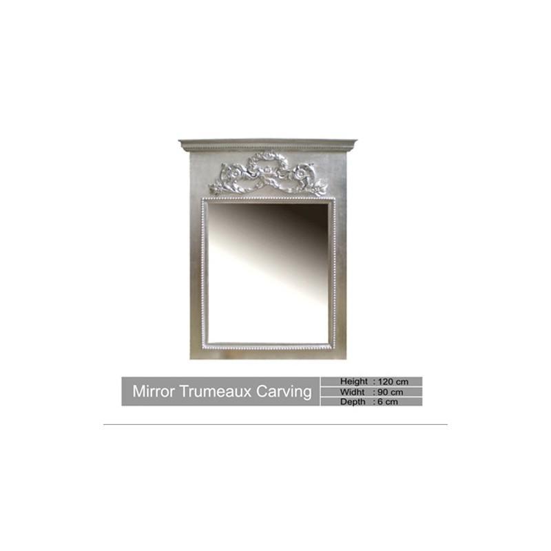 Miroir argente - Miroir argent martele ...