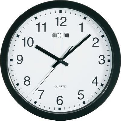 horloge murale quartz eurochron a3199 30 5 cm x 3 8 cm noir comparer les prix de horloge. Black Bedroom Furniture Sets. Home Design Ideas