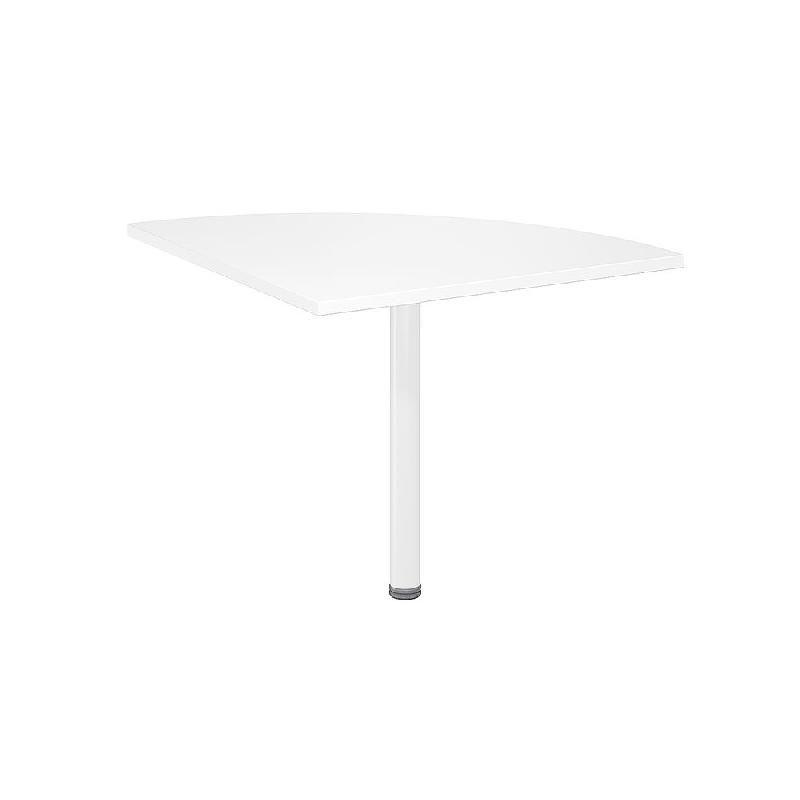 angle de liaison arrondi 90 biospace 2 c t s 80 cm plateau blanc pied tubulaire blanc. Black Bedroom Furniture Sets. Home Design Ideas