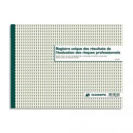 EXACOMPTA REGISTRE ÉVALUATION DES RIQUES PROFESSIONNELS FORMAT 24X32CM, 60 PAGES 6617E