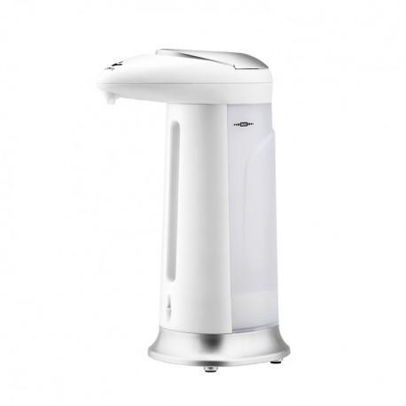Lot de 3 distributeurs automatiques de savon, gel hydroalcoolique 330 ml gris et blanc soap dispenser auto dispenser