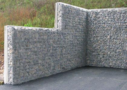 Murs anti bruit a parement gabion for Mur anti bruit maison