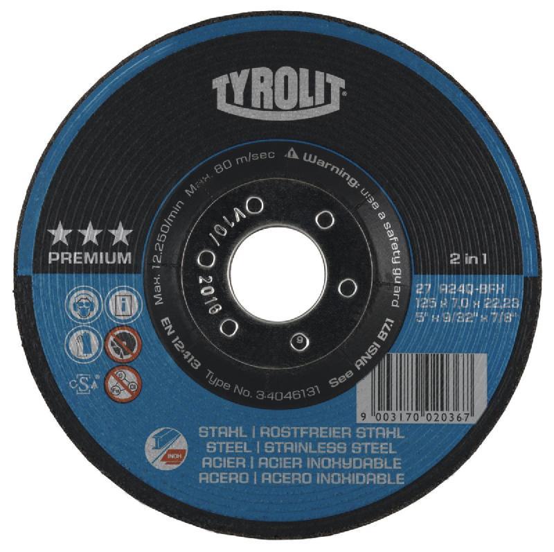 TYROLIT DEBURRING DISC 34046131 125X7,0X22,23