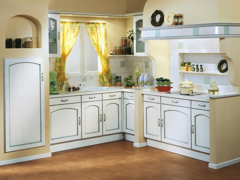 cuisine traditionnelle arabesque rechampis vert. Black Bedroom Furniture Sets. Home Design Ideas