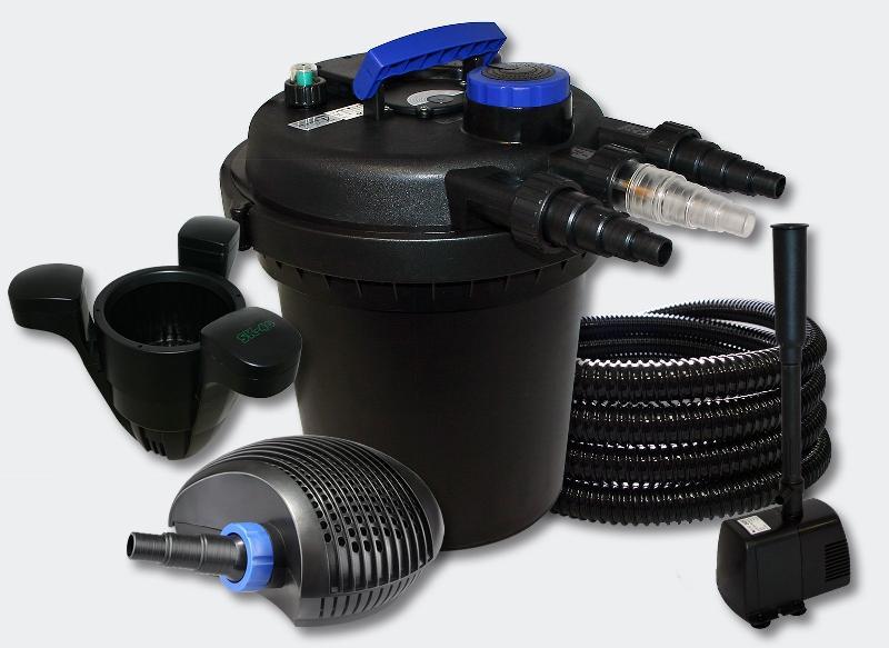 Kit filtration bassin 6000l 11 watts uvc 20 watts pompe tuyau skimmer fontaine 4216234