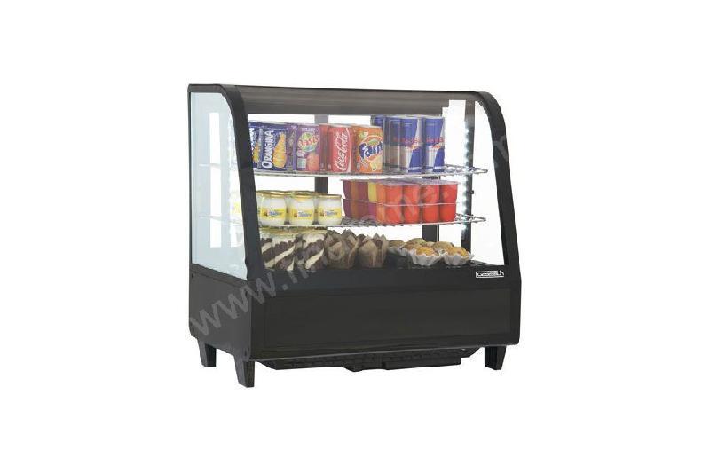 vitrine r frig r e poser noire 100 l froid ventil. Black Bedroom Furniture Sets. Home Design Ideas