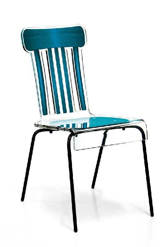 bistro chaise en plexi turquoise par acrila. Black Bedroom Furniture Sets. Home Design Ideas