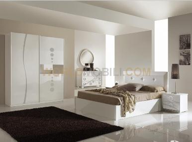 Metropolis blanche ligne chambre a coucher complete lit for Chambre a coucher blanche complete