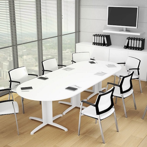 Ecobureau produits de la categorie tables de r unions - Table de reunion modulable ...