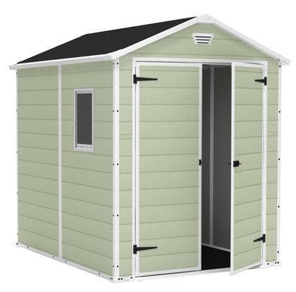 abri de jardin premium 86 double porte vert. Black Bedroom Furniture Sets. Home Design Ideas