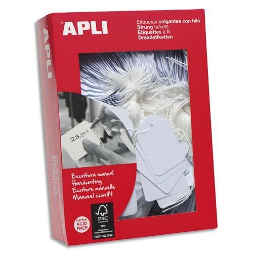 Agipa paquet de 200 étiquettes bijouterie, format 18x29mm