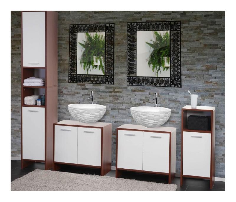 Mobiliers de salle de bain pegane achat vente de for Ensemble salle de bain bois