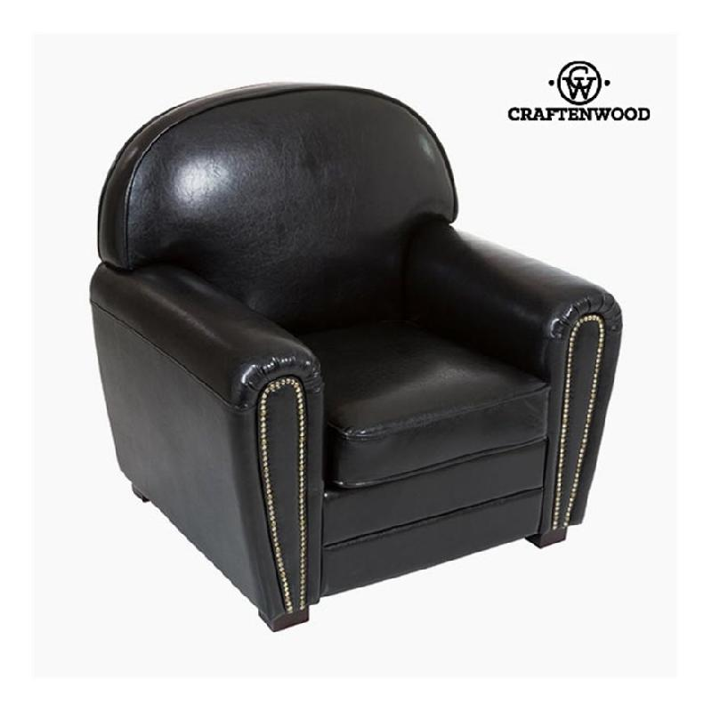 FAUTEUIL CUIR SYNTHÉTIQUE NOIR - COLLECTION RELAX RETRO BY CRAFTENWOOD