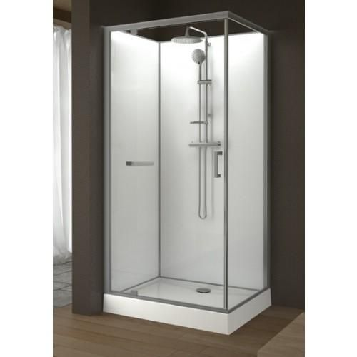 cabine de douche rectangulaire 100 x 80 cm porte. Black Bedroom Furniture Sets. Home Design Ideas
