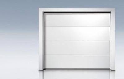 Porte de garage sectionnelle a refoulement plafond g60 style - Porte de garage a refoulement plafond ...