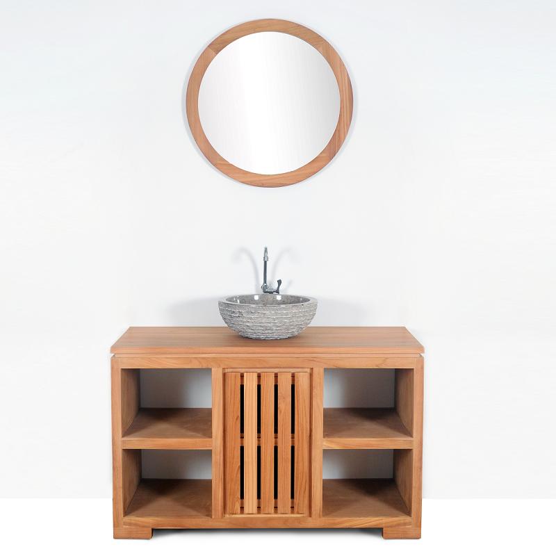 Mobiliers de salle de bain comparez les prix pour for Meuble salle de bain teck 60 cm