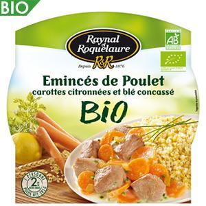 RAYNAL & ROQUELAURE EMINCÉ DE POULET CAROTTES CITRONNÉES ET BLÉ CONCASSÉ BIO 285 G