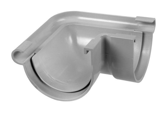 ANGLE EXTÉRIEUR 90° PVC 16 DEMI-RONDE - GRIS - FIRST PLAST