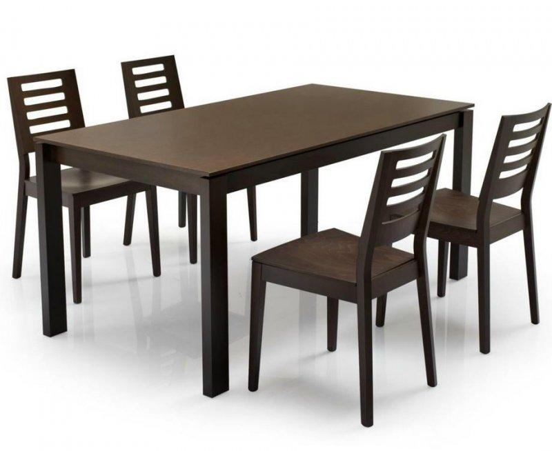 Calligaris table repas extensible baron 130x85 wenge for Calligaris baron table