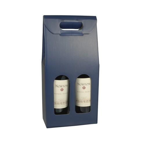 carton pour bouteilles de vin 37 5 cm x 18 cm x 9 cm bleu pour 2 boute comparer les prix de. Black Bedroom Furniture Sets. Home Design Ideas