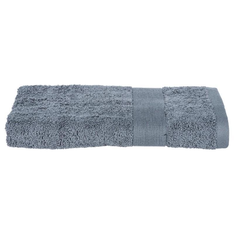 Serviette de toilette confort 50x90cm gris anthracite - paris prix