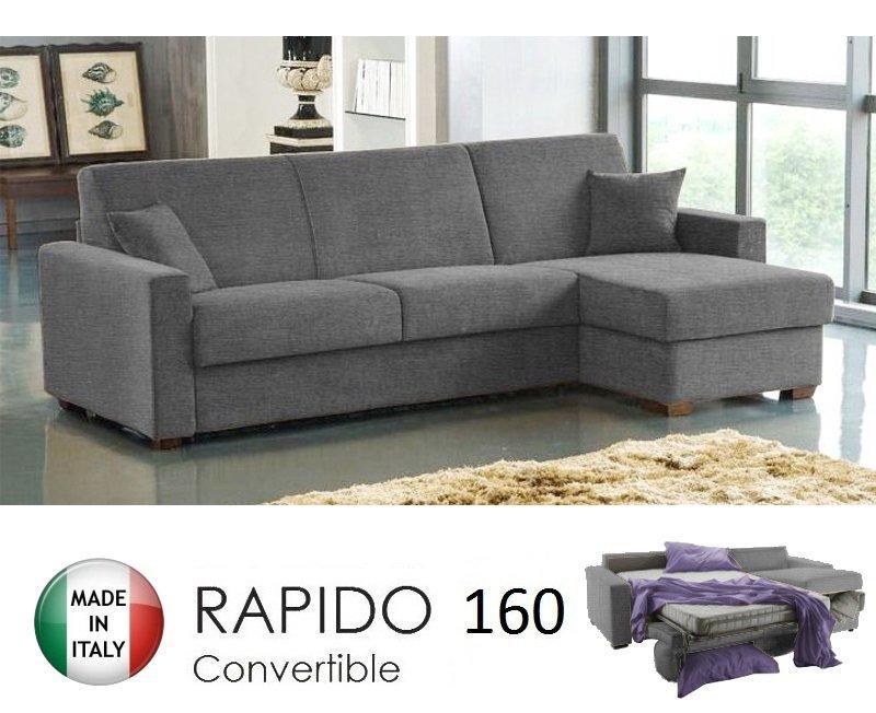 Canap d 39 angle ouverture rapido dreamer convertible lit - Lit convertible couchage quotidien ...