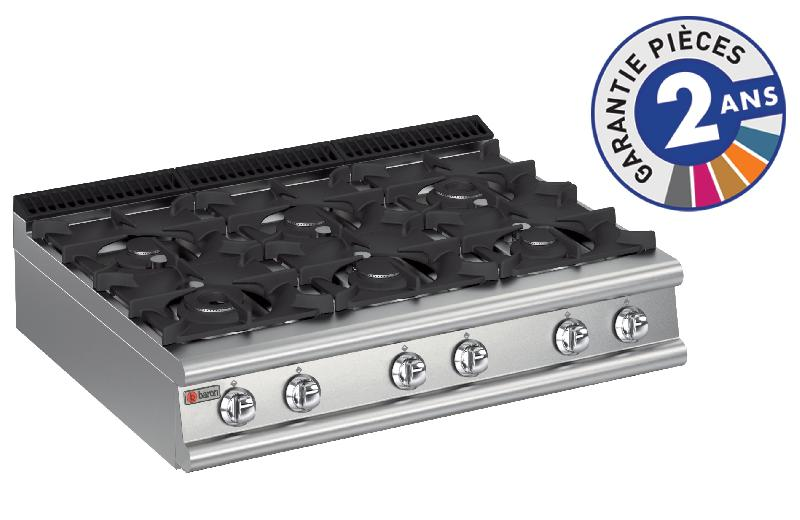 Plaque de cuisson top 6 feux vifs gaz gamme 900 baron 90pcg123 - Plaque cuisson 2 feux gaz ...