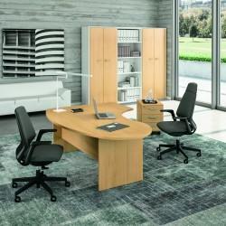 Bureau ergonomique idea pano quadrifoglio for Mobilier bureau quadrifoglio