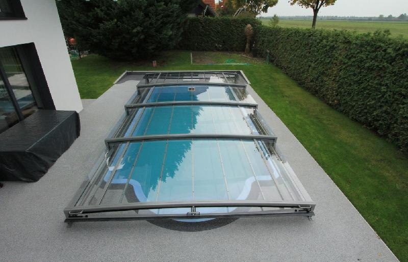 abri piscine bas limone flat telescopique. Black Bedroom Furniture Sets. Home Design Ideas