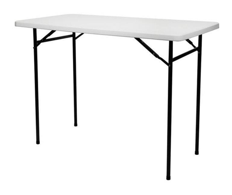 table haute pliante rectangulaire 152 x 76 x 110 cm perel comparer les prix de table haute. Black Bedroom Furniture Sets. Home Design Ideas