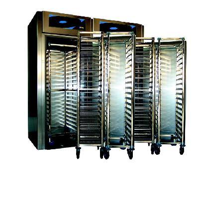 Armoire chaude à chariot 2 x gn 1/1 +63°c demontable - 2 portes - 3400 l - simple acces