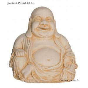 Bouddha chinois 28 cm statue en pierre - 215101