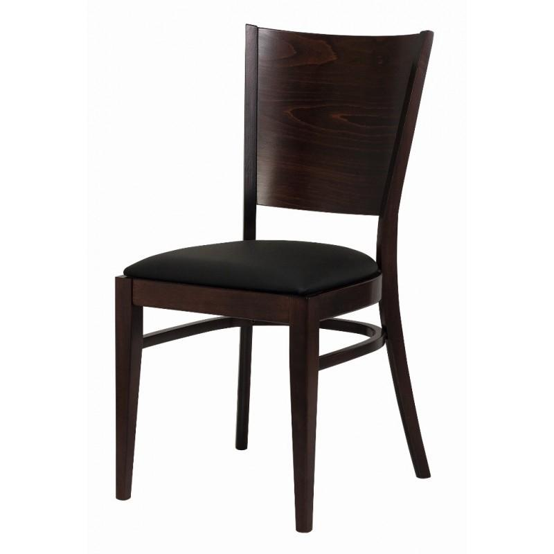 chaise bistrot bois assise simili noir comparer les prix de chaise bistrot bois assise simili. Black Bedroom Furniture Sets. Home Design Ideas