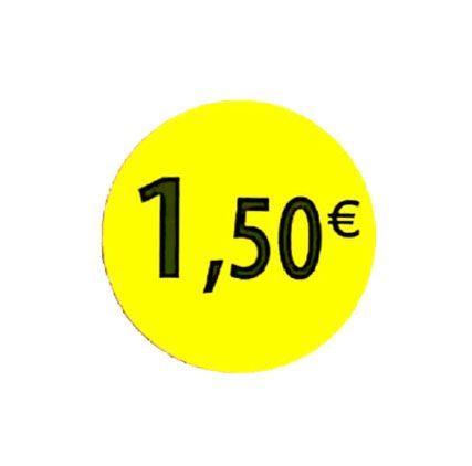 étiquette adhésive 1.50eur
