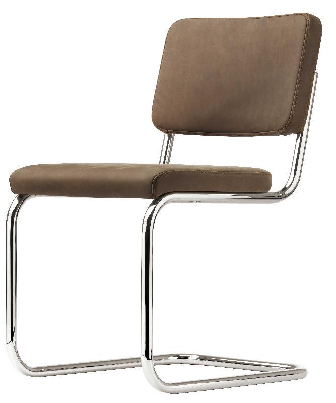s 32 pv chaise design marcel breuer cuir marron. Black Bedroom Furniture Sets. Home Design Ideas