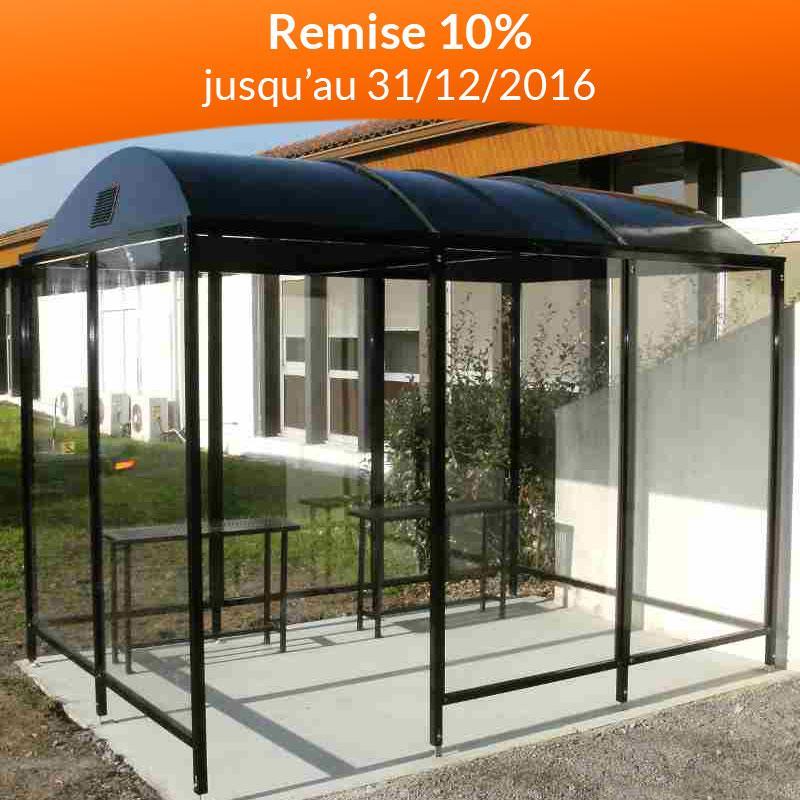 abri fumeurs avec toit dome. Black Bedroom Furniture Sets. Home Design Ideas